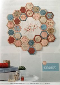 jubileumquilt romantische hexagon